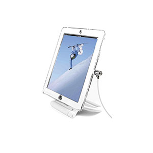 VERNON-white_rotating_ipad_lock_Stand-for-tabletop-display