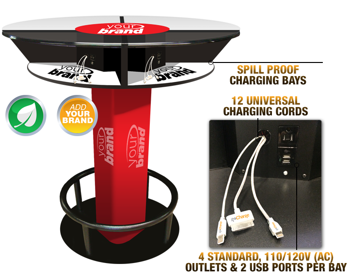 Hi Top Charging Table On Rent Vernon Technology Rental